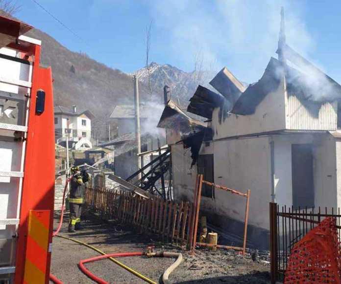 Chialamberto incendio casa fraz mottera 1