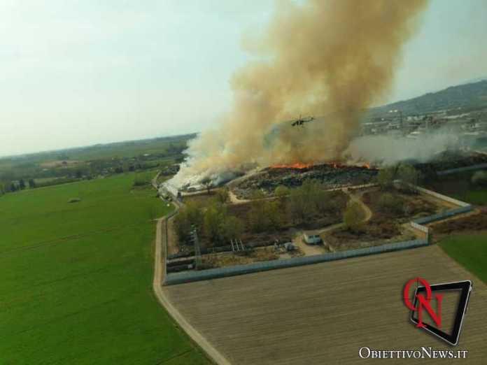 Frossasco incendio area industr 3