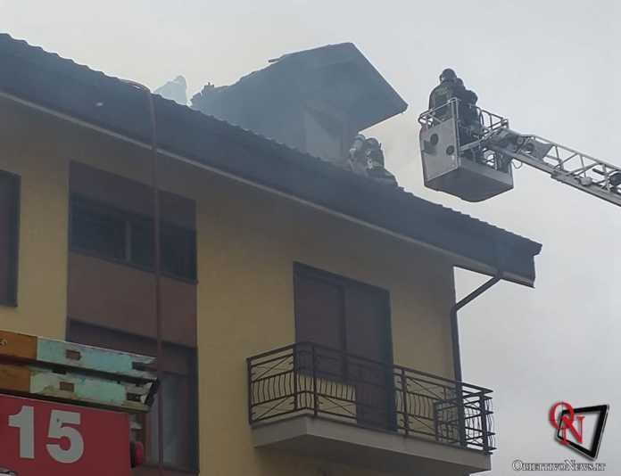 San Carlo incendio tetto via don boasso 3