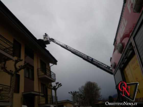 San Carlo incendio tetto via don boasso