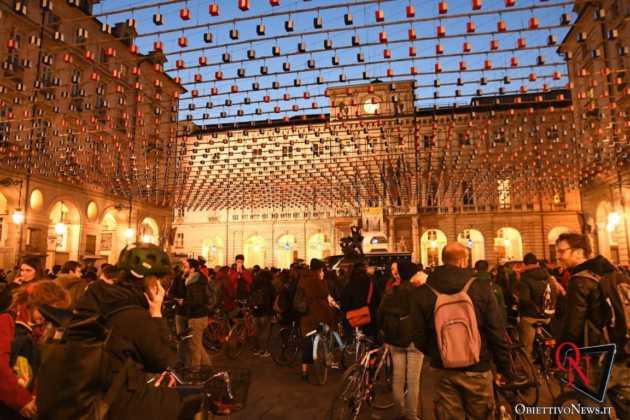Torino Flash mob ciclisti FIAB 7