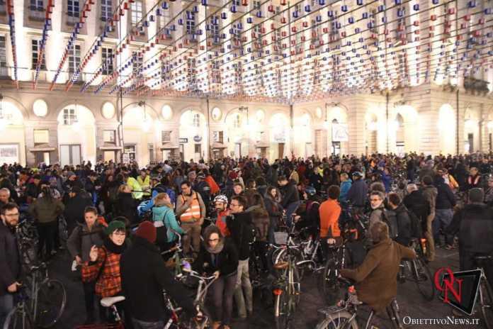 Torino Flash mob ciclisti FIAB 9