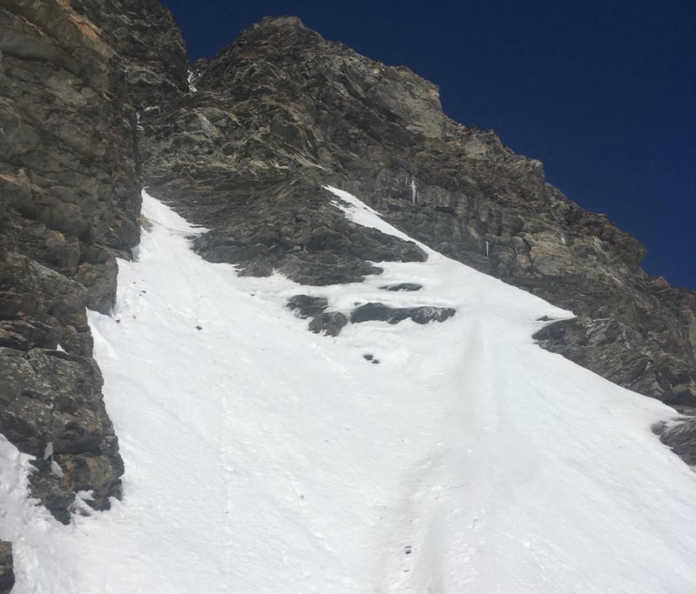 Torino alpinista precipiato canalone 1