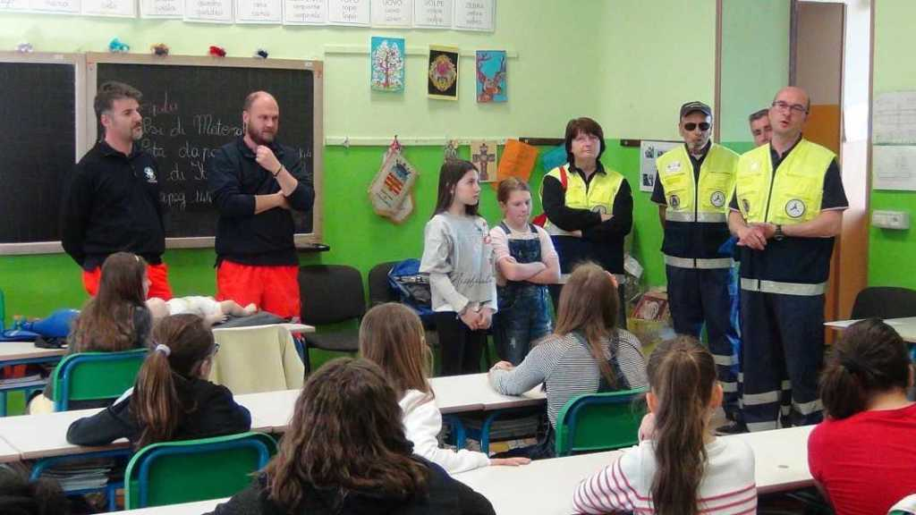 Protezione Civile e Croce Bianca alla Scuola di Valperga 1 Res