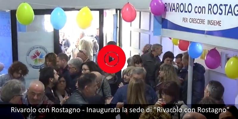 """Rivarolo con Rostagno - Inaugurata la sede di """"Rivarolo con Rostagno"""""""