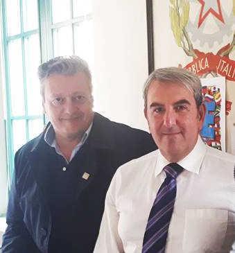 Il sindaco Falcone e lex vice sindaco Castagno Res