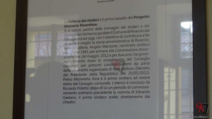 Rivarolo Canavese Inaugurazione Galleria dei Sindaci 9