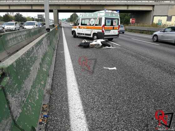 Collegno incidente auto moto tangenziale 2