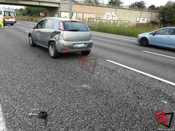 Collegno incidente auto moto tangenziale 3