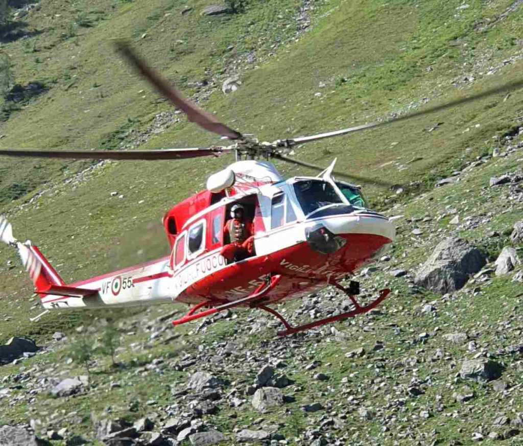 Mezzenile elicottero vvf