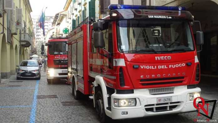 Rivarolo Canavese Principio incendio Via Ivrea 2