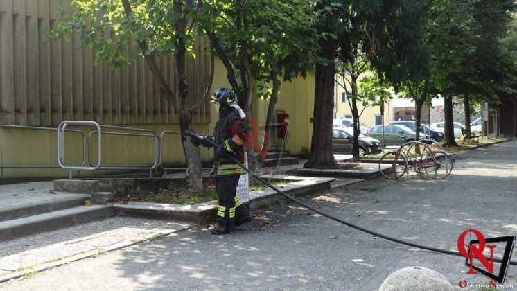 Rivarolo Incendio Bidone Postamat 2