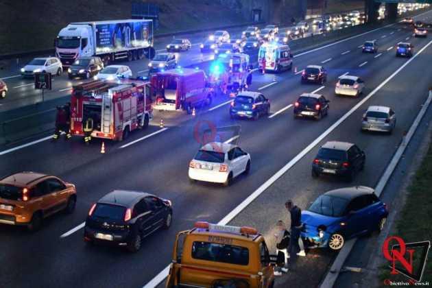 Venaria Reale Borgaro incidente tangenziale 8
