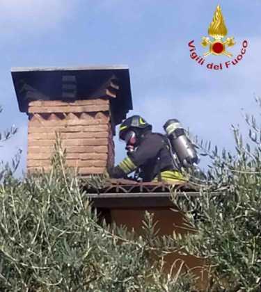 Verrua savoia incendio tetto 2