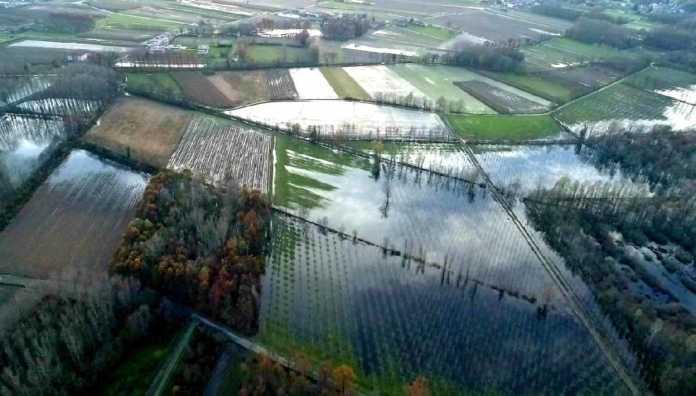 Burolo monitoraggio drone alluvione 1