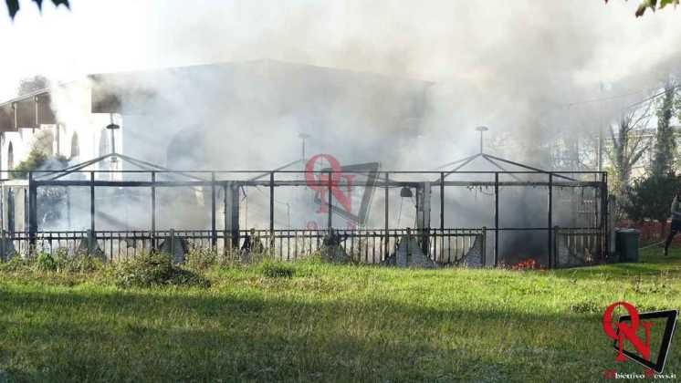 Feletto Incendio sede calciobalilla 10