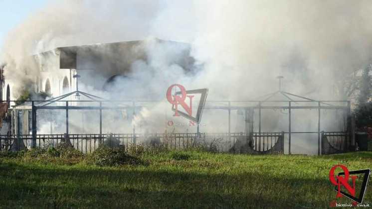 Feletto Incendio sede calciobalilla 11