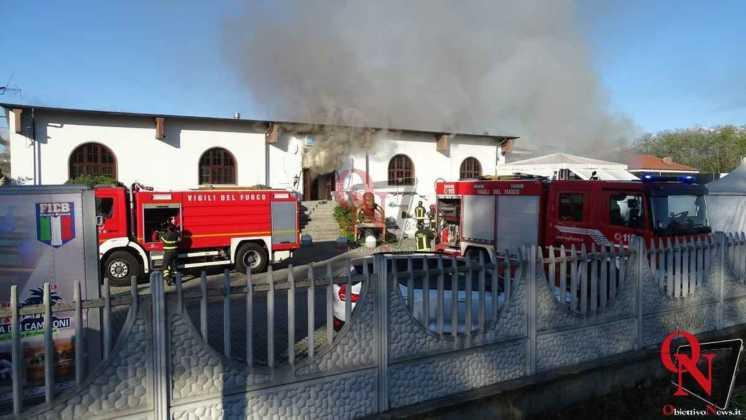 Feletto Incendio sede calciobalilla 14