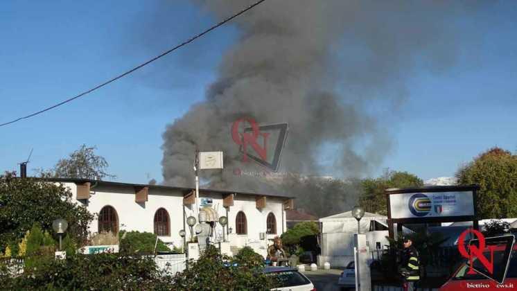 Feletto Incendio sede calciobalilla 2