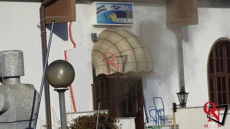 Feletto Incendio sede calciobalilla 3