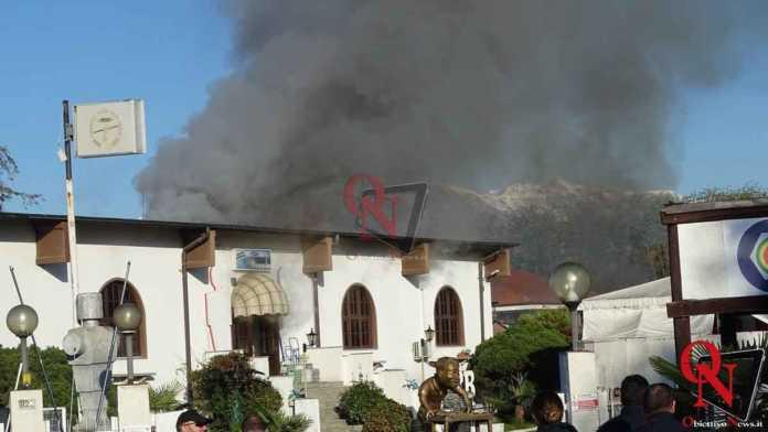 Feletto Incendio sede calciobalilla 4