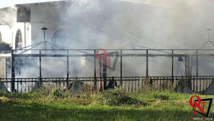 Feletto Incendio sede calciobalilla 6