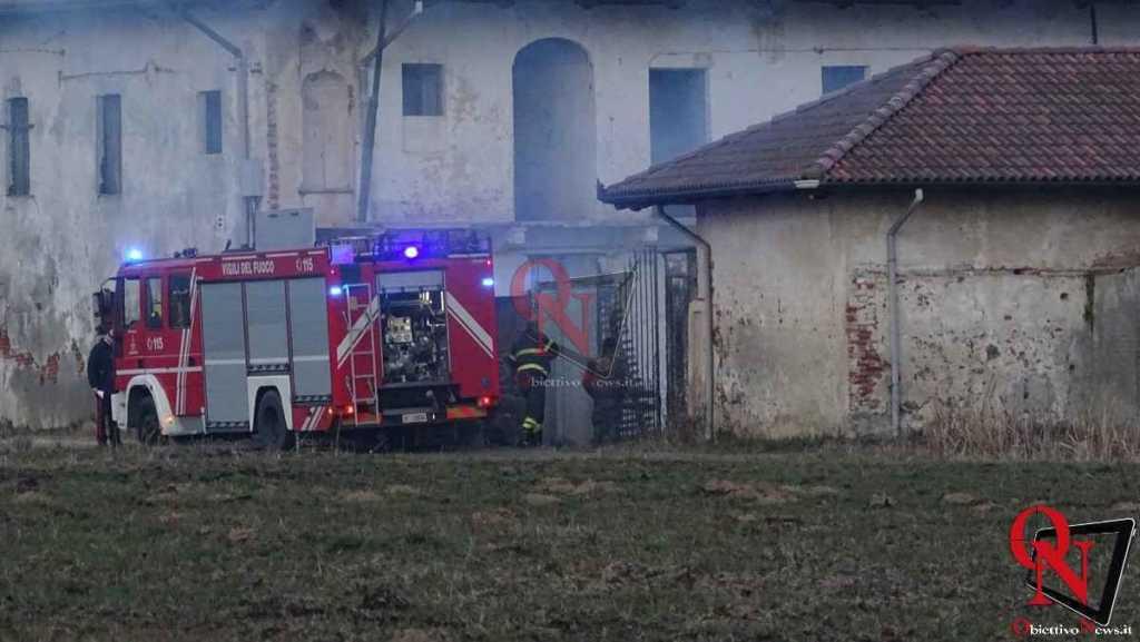 Castellamonte Principio incendio localita case Nigra 2