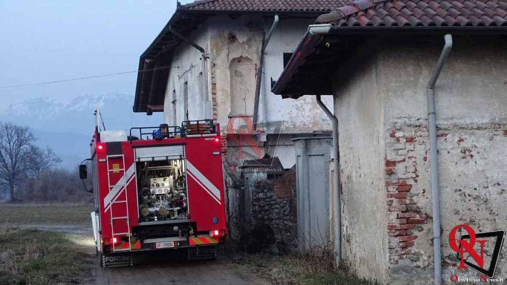Castellamonte Principio incendio localita case Nigra 6