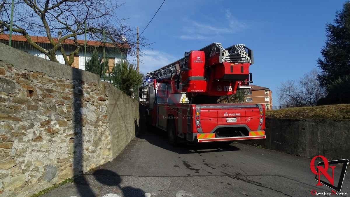 Forno Canavese Incendio tetto 1