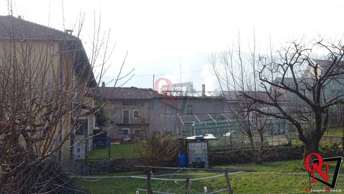 Forno Canavese Incendio tetto 14