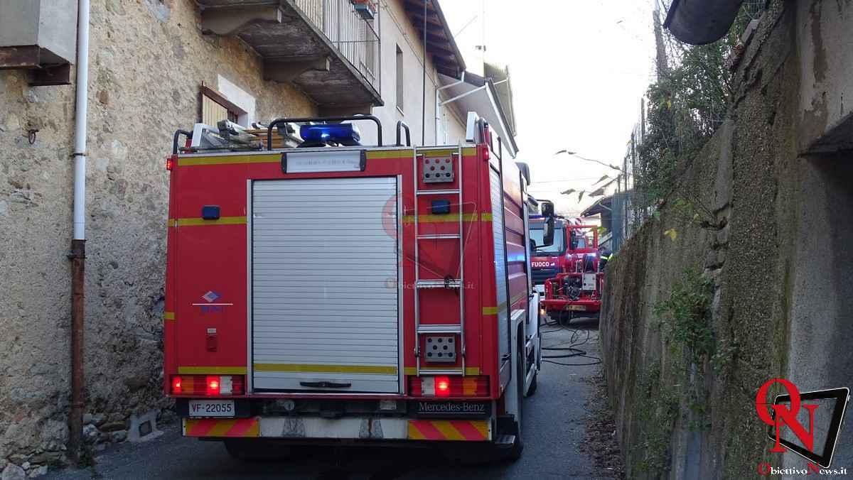 Forno Canavese Incendio tetto 16