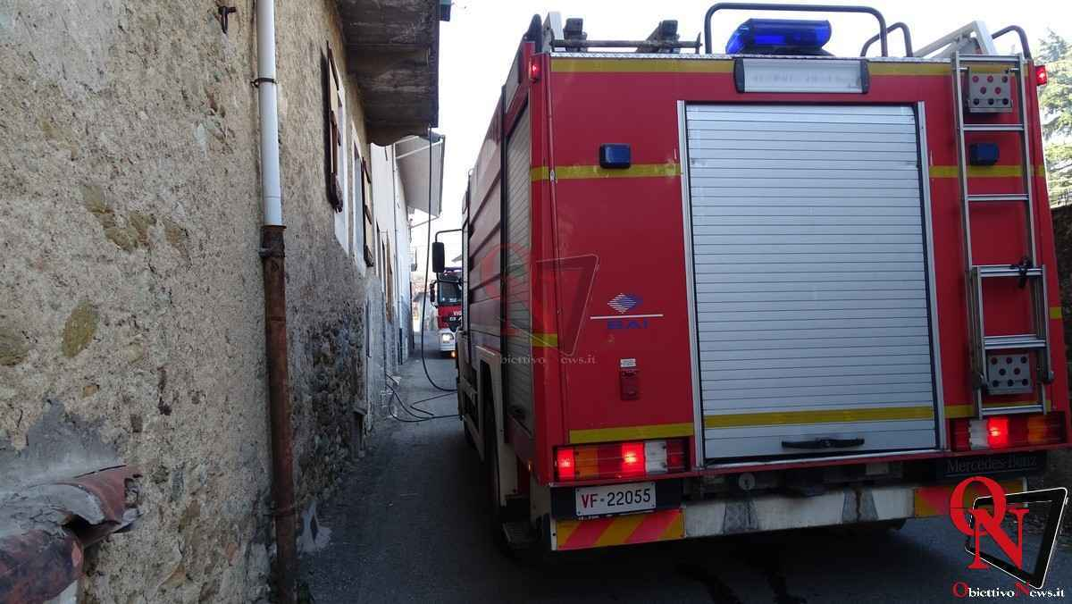 Forno Canavese Incendio tetto 2