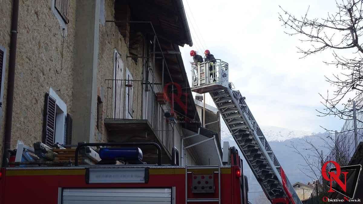 Forno Canavese Incendio tetto 23