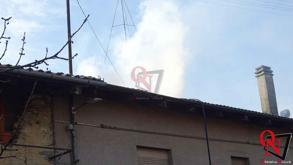 Forno Canavese Incendio tetto 4