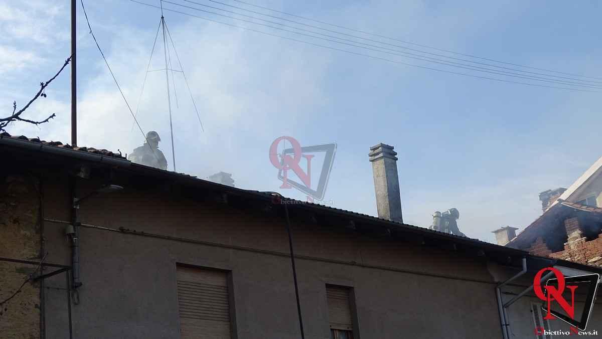 Forno Canavese Incendio tetto 5