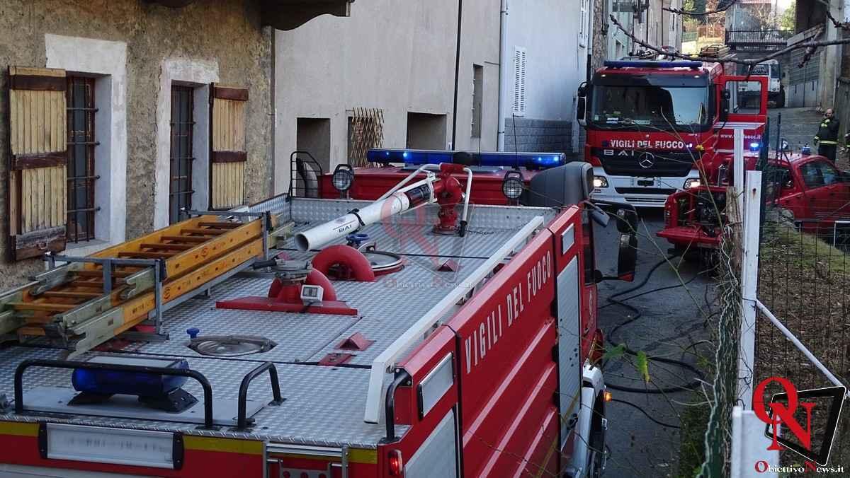 Forno Canavese Incendio tetto 6