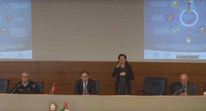 Conferenza stampa Borrelli