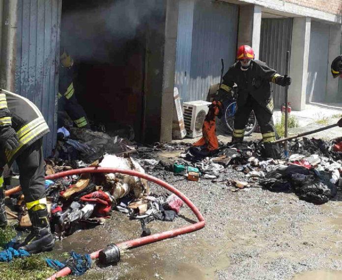 caluso incendio garage1