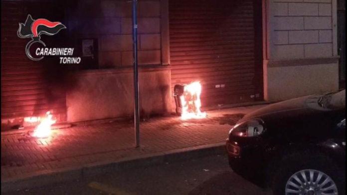 Nichelino incendio negozio