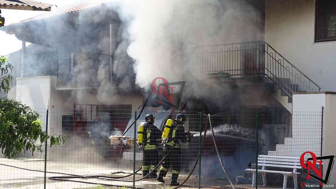 Oglianico Benne Incendio Garage 2