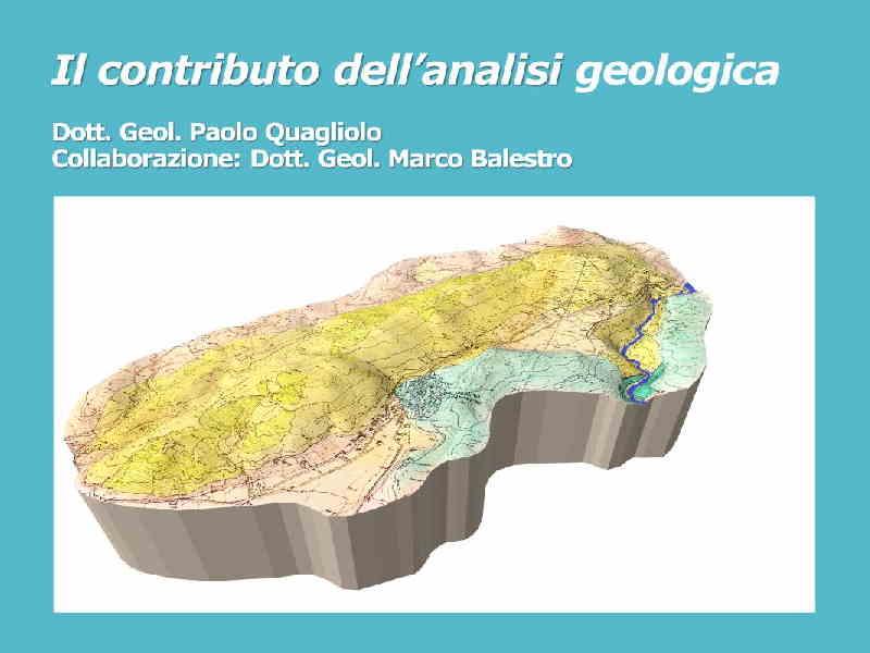 anlisi geologica