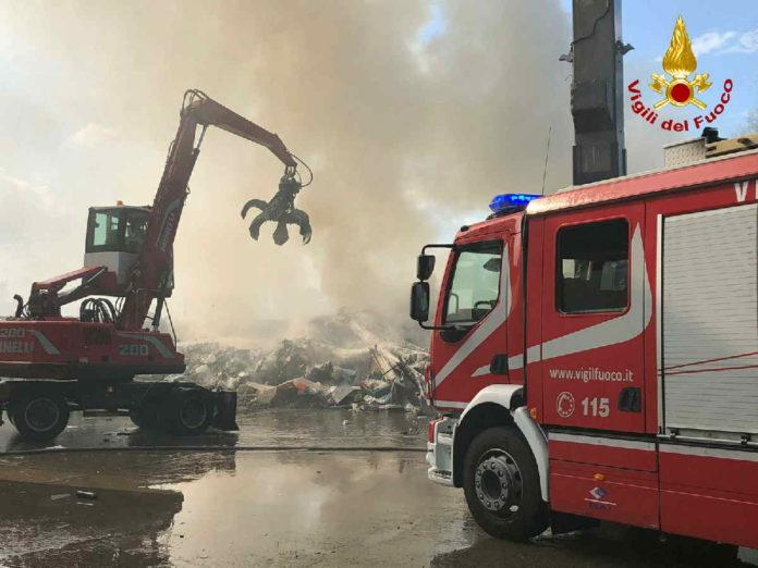 mappano borgaro incendio rifiuti 1