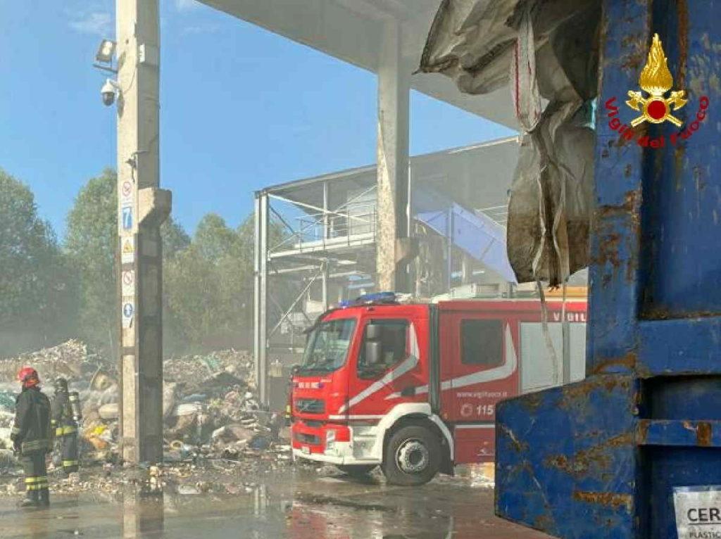 mappano borgaro incendio rifiuti 2