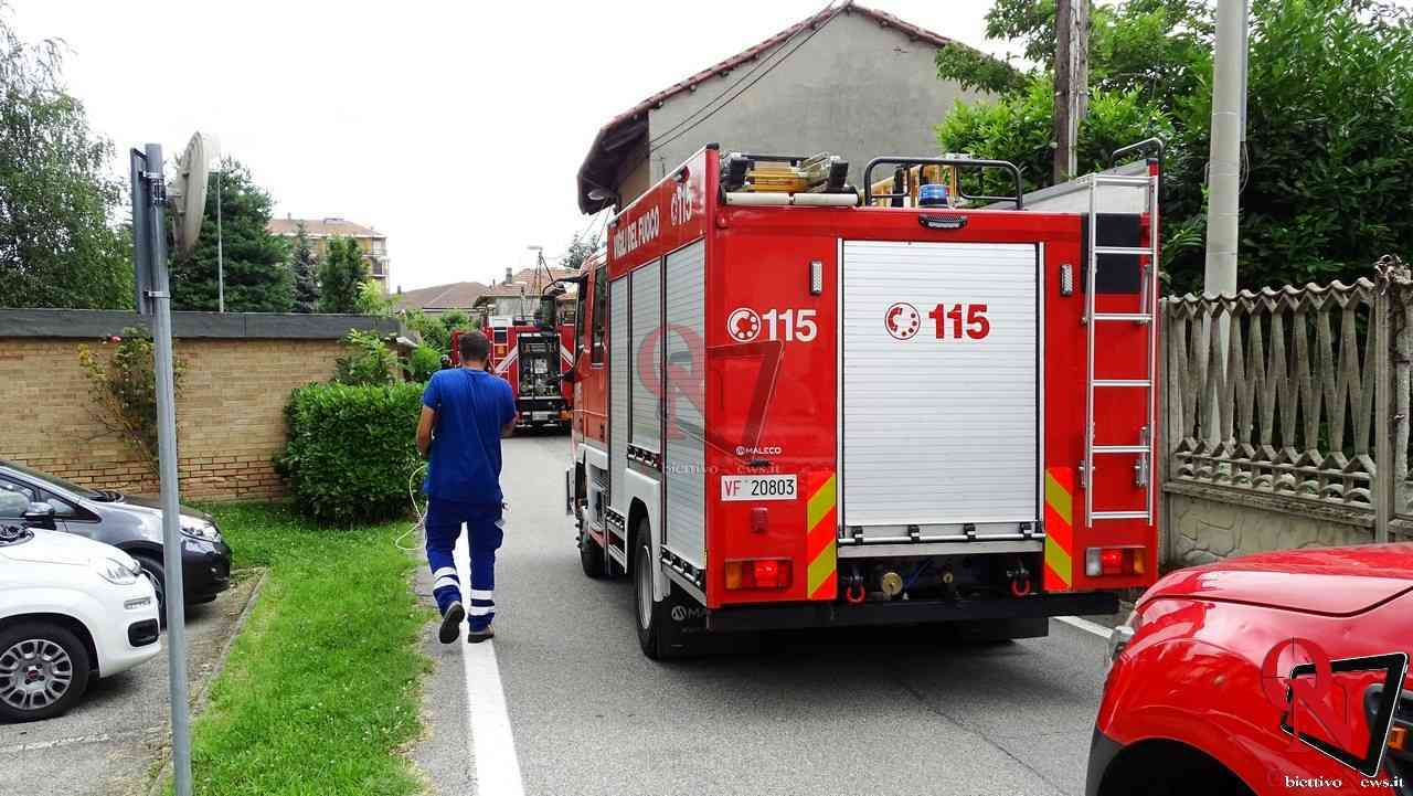 Aglie incendio tubatura gas 5