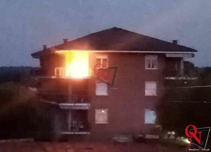 Busano incendio bombola balcone