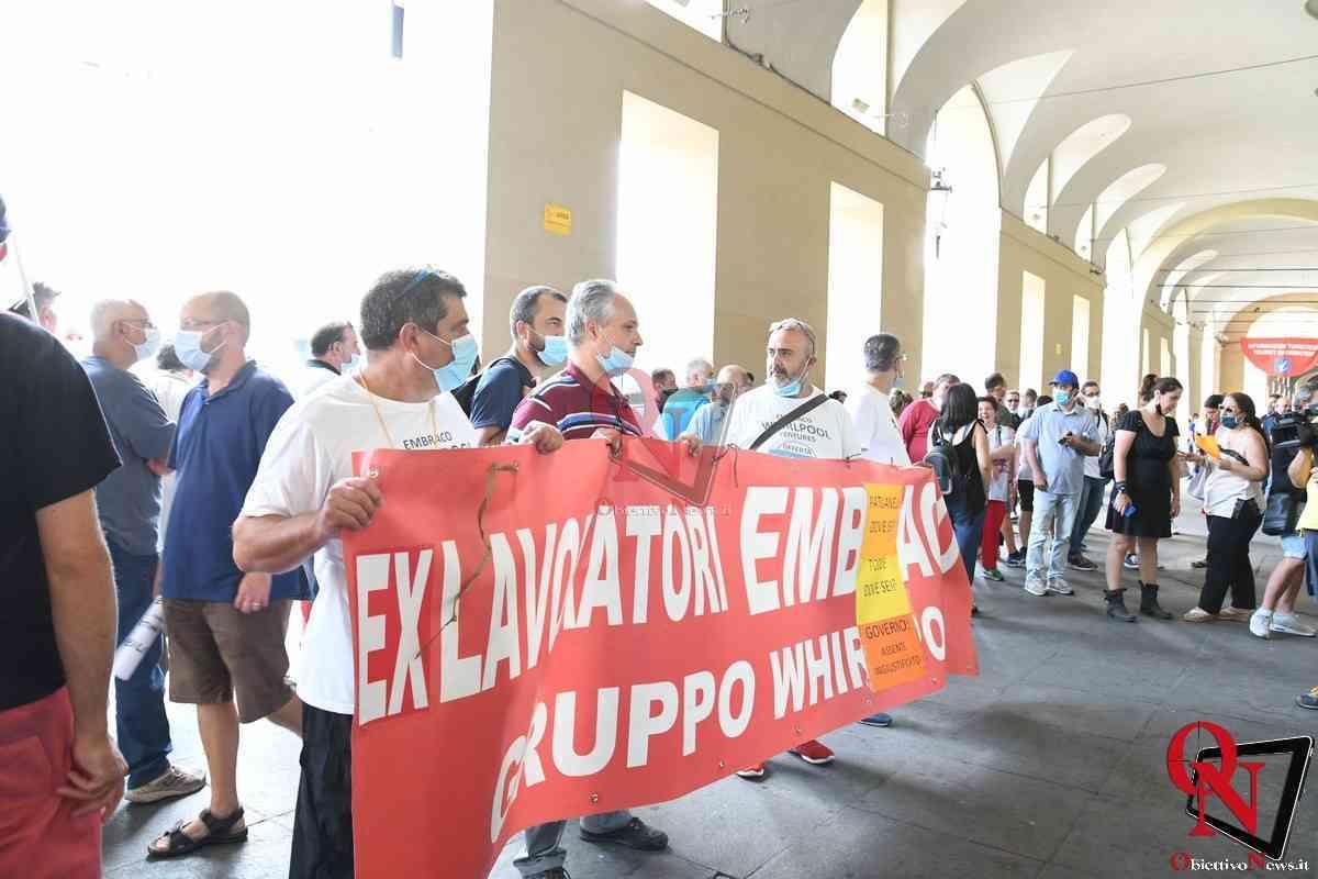 Torino Lavaratori ex Embraco e Sindacati ricevuti in Regione da Alberto Cirio 4
