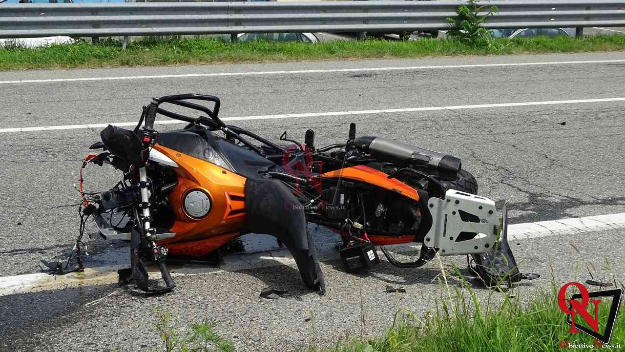 Valperga incidente auto moto 10