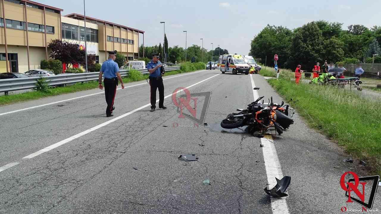 Valperga incidente auto moto 4