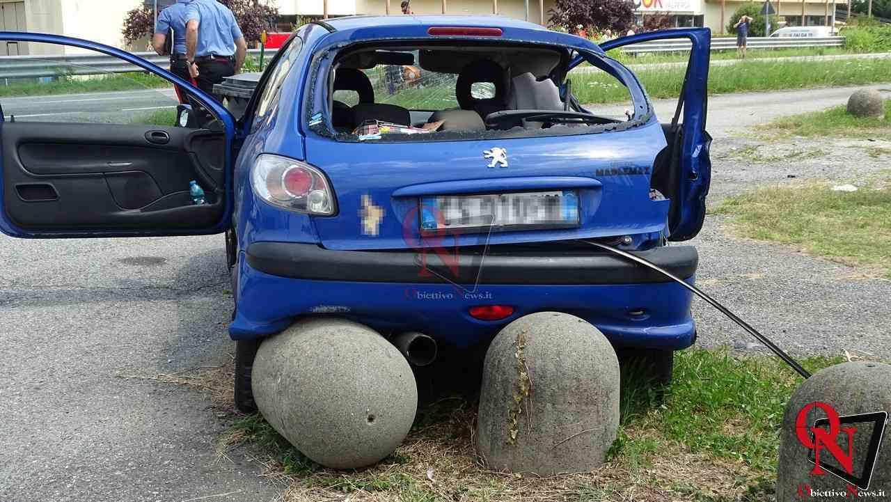 Valperga incidente auto moto 6