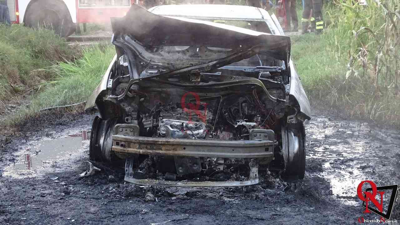 Feletto Incendio auto rubata 16